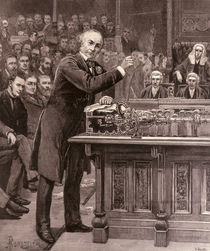 Mr. Gladstone Explaining to the House of Commons his Scheme for the Government of Ireland von English School