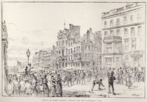 Riots in the West End of London: Mob in St. James's Street by English School