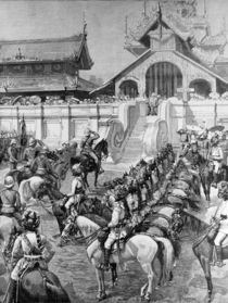 Our Troops in Burmah: Reception of General F. Roberts in Mandalay at the East Gate of the Palace von Amedee Forestier