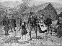 Scene at an Irish Eviction in County Kerry von Amedee Forestier