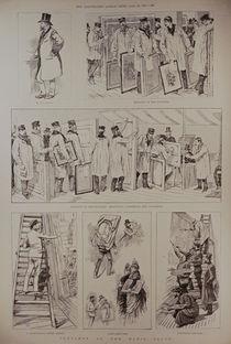 Sketches at the Paris Salon von English School