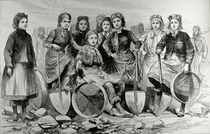 Lancashire Pit-Brow Women, from 'The Illustrated London News', 28th May 1887 von English School