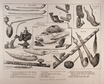 Pipes of all Peoples, from 'The Illustrated London News' von English School