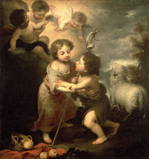 The Infants Christ and John the Baptist by Bartolome Esteban Murillo
