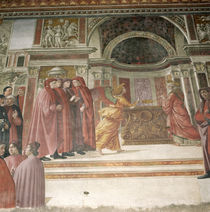The Angel appearing to St. Zacharias in the Temple by Davide & Domenico Ghirlandaio
