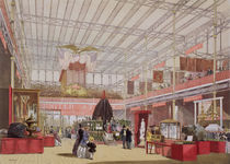 View of the United States section of the Great Exhibition of 1851 by English School