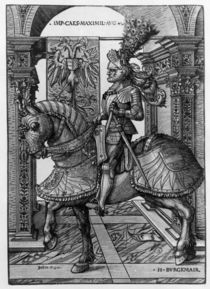 Equestrian portrait of Maximilian I c.1508 by Hans Burgkmair