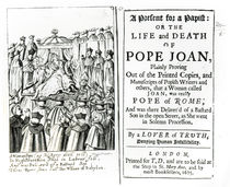 A Present for a Papist, or the Life and Death of Pope Joan by English School