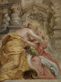 Peace Embracing Plenty, 1633-34 von Peter Paul Rubens
