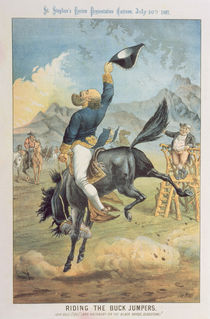 Riding the Buck Jumpers, Lord Salisbury on the Black Horse by Tom Merry