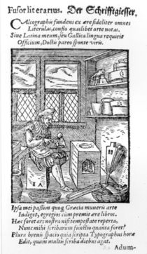 The Letter Plate Maker, published by Hartman Schopper by German School