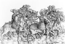 A group of mounted trumpeters by Hans Burgkmair