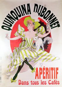 Poster advertising 'Quinquina Dubonnet' aperitif by Jules Cheret