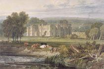 View of Hampton Court, Herefordshire von Joseph Mallord William Turner