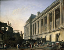 The Clearing of the Louvre colonnade by Pierre Antoine Demachy