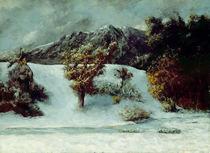 Winter Landscape With The Dents Du Midi von Gustave Courbet