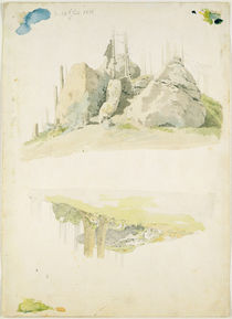 Rock and Tree: Two Studies von Caspar David Friedrich