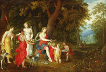 Diana and Her Maidens, after the hunt by A. & Balen, H. van Govaerts