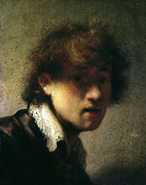 Head of a Young Man or Self Portrait von Rembrandt Harmenszoon van Rijn