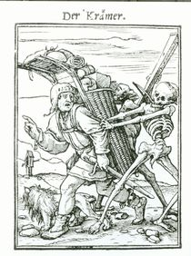 Death and the Pedlar, from 'The Dance of Death' von Hans Holbein the Younger