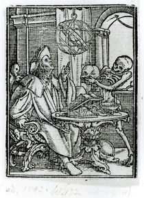 Death and the Astronomer, from 'The Dance of Death' von Hans Holbein the Younger