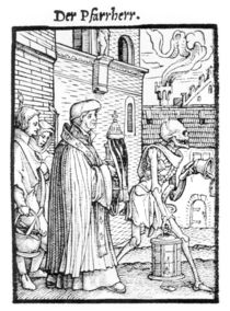 Death and the Parish Priest von Hans Holbein the Younger