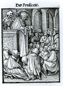 Death and the Preacher, from 'The Dance of Death' von Hans Holbein the Younger