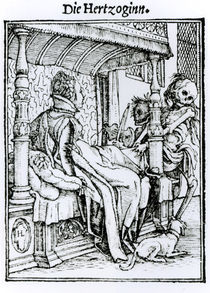 Death and the Lady, from 'The Dance of Death' von Hans Holbein the Younger