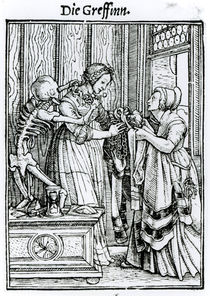 Death and the Mistress, from 'The Dance of Death' von Hans Holbein the Younger