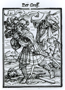 Death and the Count, from 'The Dance of Death' von Hans Holbein the Younger