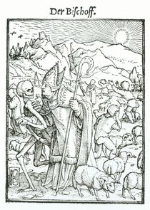 Death and the Bishop, from 'The Dance of Death' von Hans Holbein the Younger
