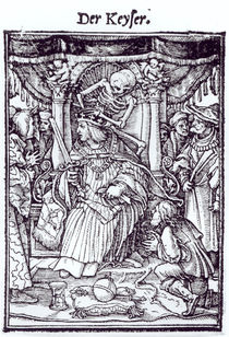 Death and the Emperor, from 'The Dance of Death' von Hans Holbein the Younger