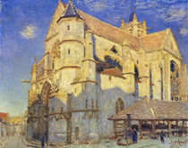 The Church at Moret, Frosty Weather by Alfred Sisley