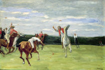 Polo player in Jenischpark von Max Liebermann