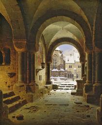 The Monastery Gate in Winter von Carl Georg Adolph Hasenpflug