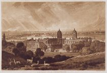London from Greenwich, engraved by Charles Turner 1811 von Joseph Mallord William Turner