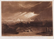The Fifth Plaque of Egypt, engraved by Charles Turner 1808 von Joseph Mallord William Turner