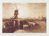 Windmill and Lock, engraved by William Say von Joseph Mallord William Turner