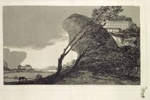 Landscape with Large Rocks von Francisco Jose de Goya y Lucientes