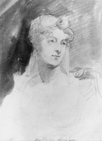 Portrait of The Hon. Augusta Leigh by George Hayter