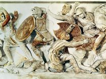 The Alexander Sarcophagus depicting a battle scene by Greek