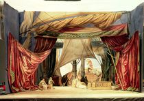 Stage model for the opera 'Tristan and Isolde' by Richard Wagner von German School