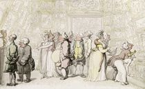 Viewing at the Royal Academy von Thomas Rowlandson