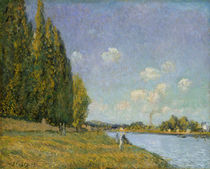 The Seine at Billancourt, 1879 by Alfred Sisley