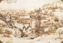 Arno Landscape, 5th August von Leonardo Da Vinci