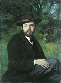 Self Portrait, 1871 von Hans Thoma