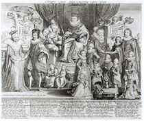 Family Portrait of James I of England by English School