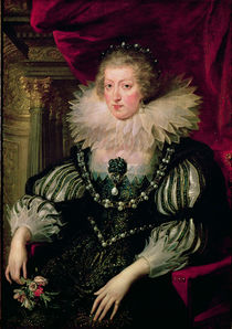Portrait of Anne of Austria Infanta of Spain von Peter Paul Rubens
