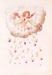 Zephyr from , 'La Guirlande de Julie' by Nicolas Robert