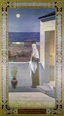St. Genevieve Watches Over the Sleeping City of Paris by Pierre Puvis de Chavannes